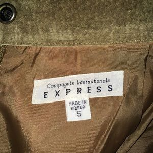 Compagnie Internationale EXPRESS Skirts - Genuine Leather Army Green Skirt S